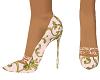 Cream patterned heels