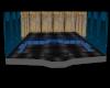 xmas lights room blue