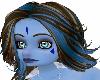 *blue brown long hair