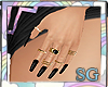 SG Nails Black + Rings