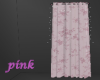 Soft pink curtain