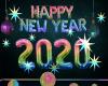 New year 2020 Rainbow