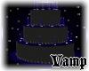 (V)Black/blue b-day cake