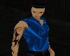 Blue Silk Vest