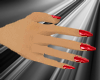 glam dainty hands red