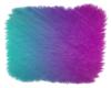 Neon AquaPinkPurple Rug