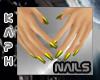 Small Hand Yellow nails