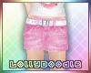 Kids Pink Denim Skirt