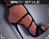 Ms~Black heels sandals