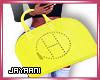Herms Wrist Bag Yellow