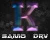 K Letter Colored Drv