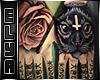 Rose Cat hand tattoo