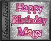 MAGS bday floor sign