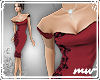 !Pencildress offshou red