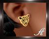 (T)Earrings Tiger Gold
