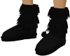 Black Fur Ugg Boot M