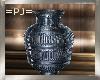 =PJ= Blue Etched Jar