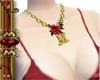 golden necklace letter M
