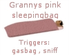 Grannys Pink sleepingbag