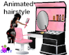 pink candy hairstyle chr