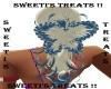 wht & blue butterfly