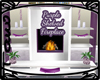 Purple Shelved Fireplace