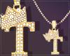 Gold Chain T Letter Fem