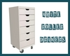 White Roller Drawers