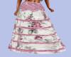 [B] Boho Pink Lace Skirt
