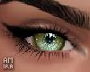 Eyes green light sky
