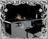 fashion black model desk
