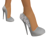 Silver rose shoes