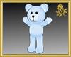 Outline Blue Teddy