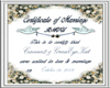 Wedding Certificate