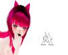 Hot Pink cat raver ears