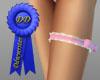 pink n white lace garter