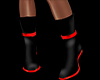 -SWD- Red Black Boots