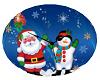Santa & Snowman clock