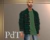 PdT GreenPlaid Shirt&T M