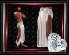 White slave silk pants