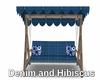 Denim and Hibiscus Swing