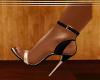gold spike sandal