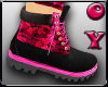 *D* Pink Armor Boots