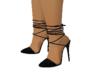 Black coat heels