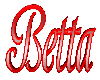 Betta 3D Sign