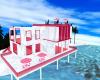 Pink beach mansion
