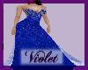 (V) blue beaded gown