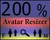 Any Avatar Size,200%