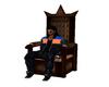 King  Queen Throne Chair