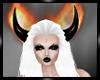 X.Flamed Horns Black
